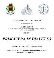 Primavera in Dialetto - Poeti del Cenacolo Varesino e Varesotto