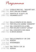 Concerto di Pasqua - Programma