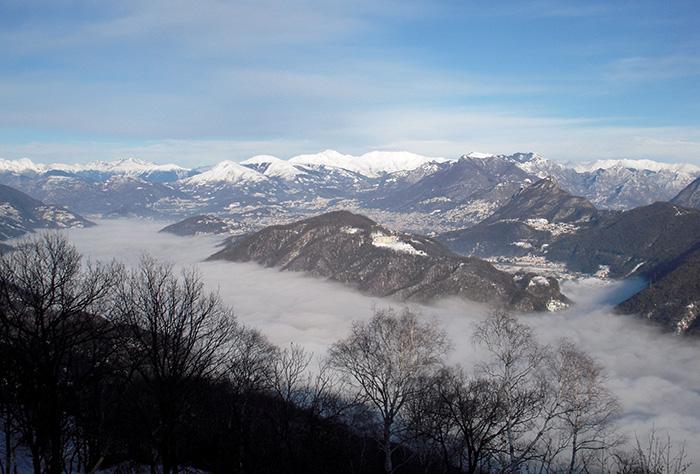 Menzione - Ceresio celato dalla nebbia di Giuditta Galli